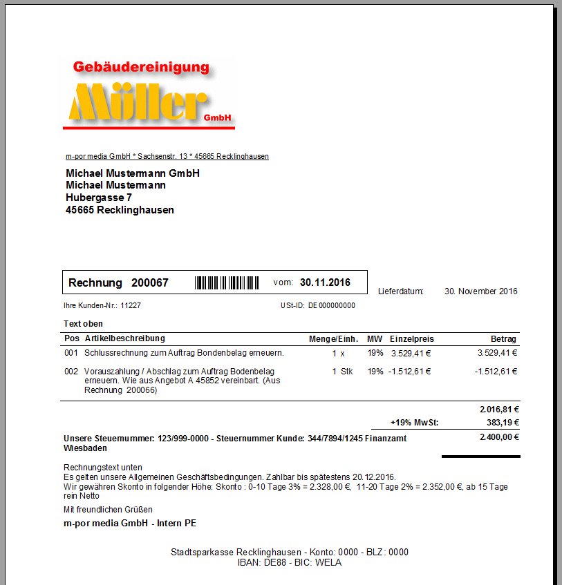 Rechnungen erstellen – Faktura-XP Warenwirtschaft Handbuch und Wiki